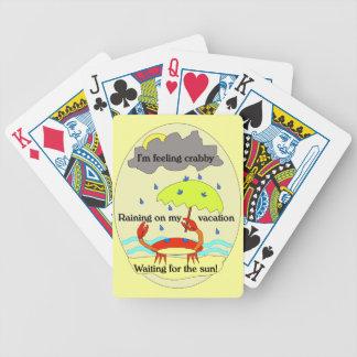 Crabby Day Haiku Playing Cards