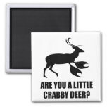 Crabby Deer 2 Inch Square Magnet