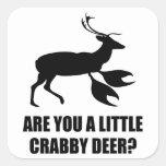 Crabby Deer Stickers