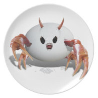 Crabby Egg Party Plates