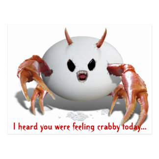 Crabby Egg Postcard