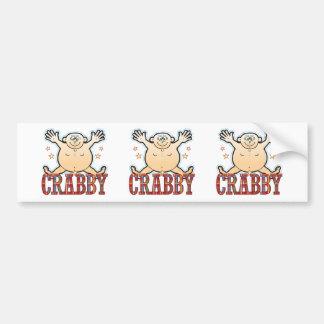 Crabby Fat Man Bumper Sticker