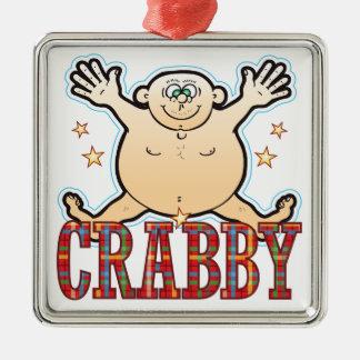 Crabby Fat Man Metal Ornament