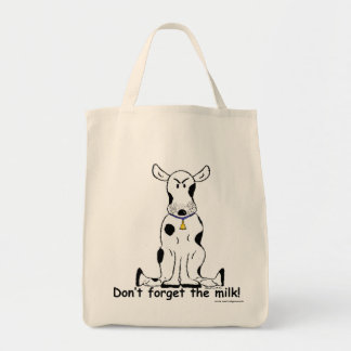 Crabby grouchy cow grocery shopping bag!! bag