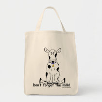Crabby grouchy cow grocery shopping bag!! tote bag