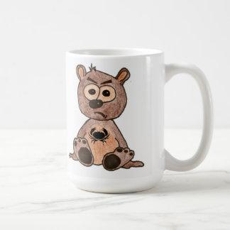 Crabby Heart Bear Classic White Coffee Mug