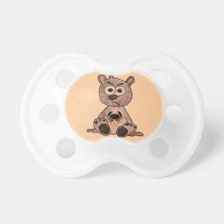 Crabby heart bear pacifier