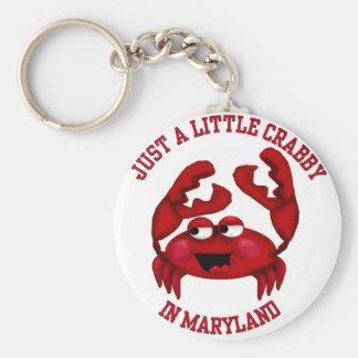 Crabby in Maryland Keychain