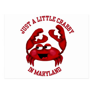 Crabby in Maryland Post Card