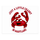 Crabby in Maryland Postcard