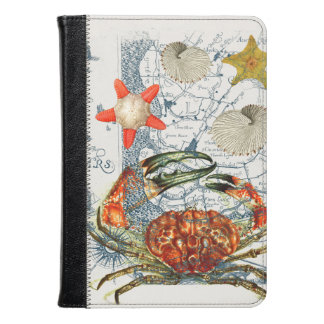 crabby map starfish kindle case