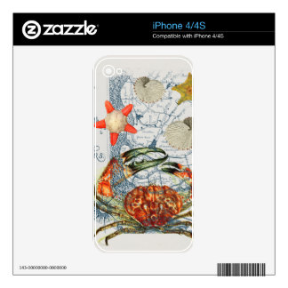 crabby map starfish skin for iPhone 4S