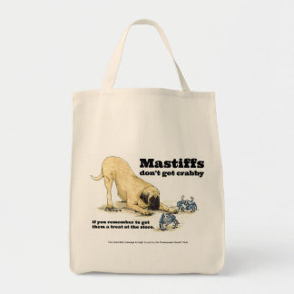 Crabby Mastiff Grocery Tote