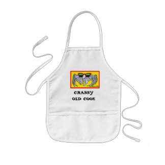 CRABBY OLD COOK KIDS' APRON