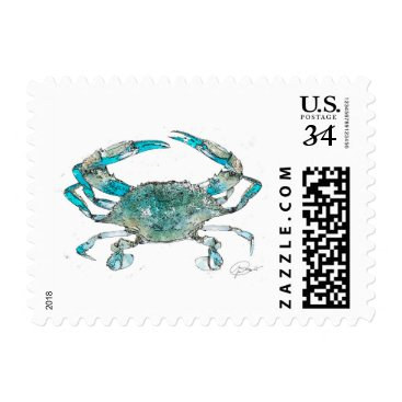 Beach Themed Crabby Post Postage