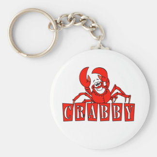 Crabby Tshirts and Gifts Basic Round Button Keychain