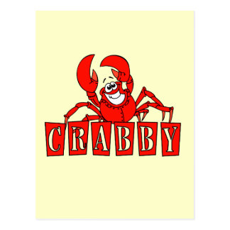 Crabby Tshirts and Gifts Postcard