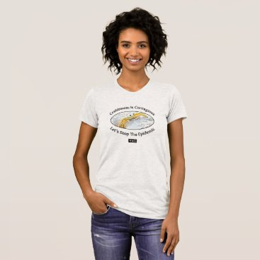 Beach Themed Crabby Wmn's Am Apparel Jersey T-Shirt