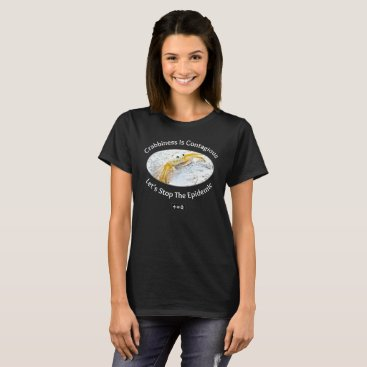 Beach Themed Crabby Women's Basic Dark T-Shirt