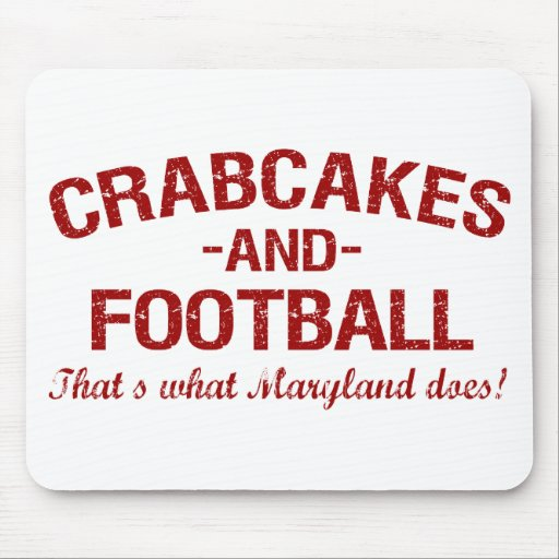 Crabcakes and Football Mouse Pad