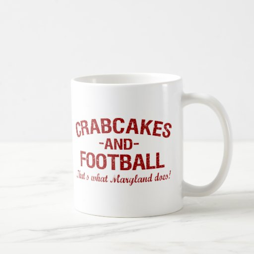 Crabcakes and Football Mugs