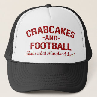 Crabcakes and Football Trucker Hat