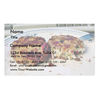 Crabcakes Food Double-Sided Standard Business Cards (Pack Of 100)