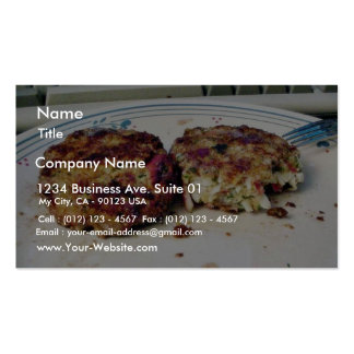 Crabcakes Food Business Card