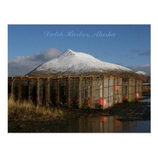 Crabpot Yard in Dutch Harbor, Alaska Postcard