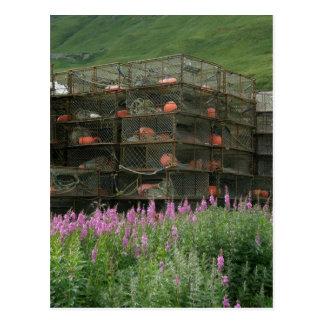 Crabpots stored in Dutch Harbor, Alaska Postcard