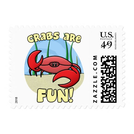 Crabs are Fun Postage Stamps