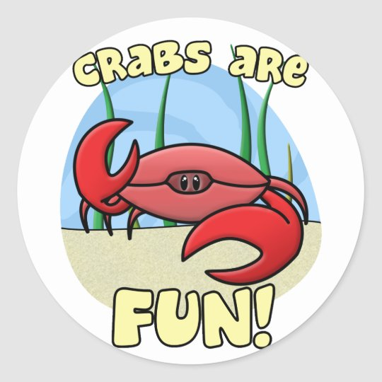 Crabs are Fun Stickers