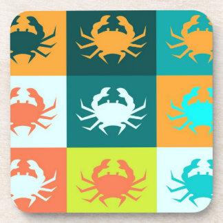 Crabs Art Graphic Design 4 Drink Coaster