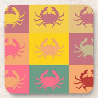 Crabs Art Graphic Design 6 Beverage Coaster