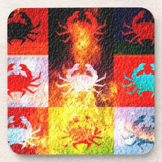 Crabs Art Graphic Design 6 Drink Coaster