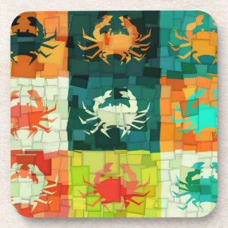 Crabs Art Graphic Design 7 Drink Coaster