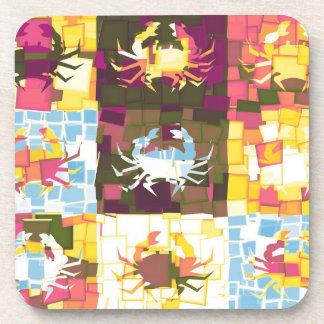 Crabs Art Graphic Design Drink Coaster