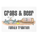 Crabs & Beer Family Tradition Invitations