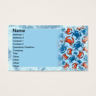Professional Business Crabs Business Card