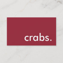 crabs. business card