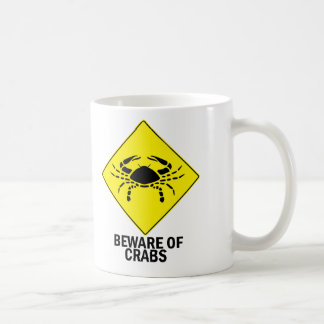 Crabs Classic White Coffee Mug