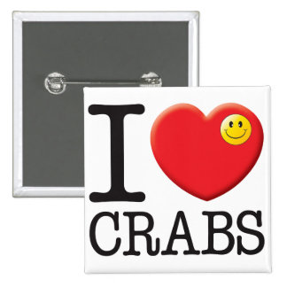 Crabs Love Pinback Buttons