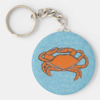 Crabs (Maryland, Gulf and East Coast).jpg Basic Round Button Keychain