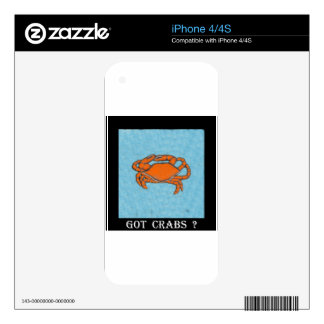 Crabs (Maryland, Gulf and East Coast).jpg iPhone 4 Decal