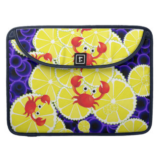 Crabs on lemon sleeve for MacBook pro
