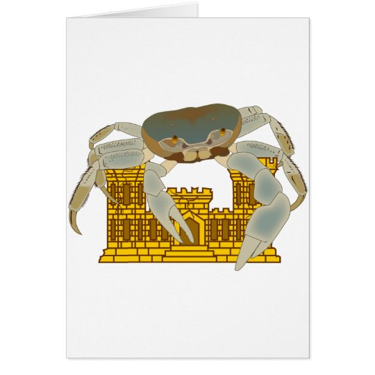 Crabs over castles card