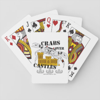 Crabs over Castles Playing Cards