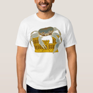 Crabs over castles t-shirt
