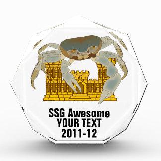 Crabs over cracked castles acrylic award
