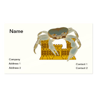 Crabs over cracked castles Double-Sided standard business cards (Pack of 100)